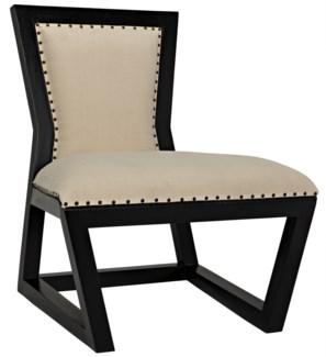 Z Rado Chair, Hand Rubbed Black