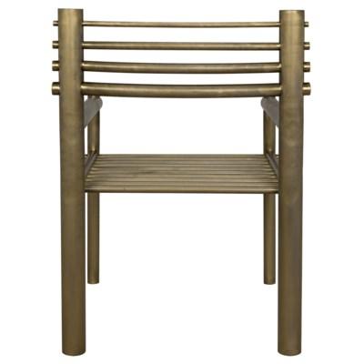 Berlin Chair, Metal Antique Brass