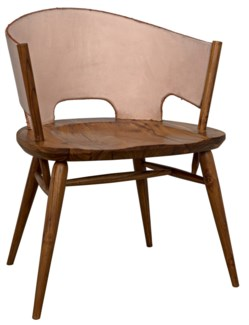 Corado Chair, Teak and Leather