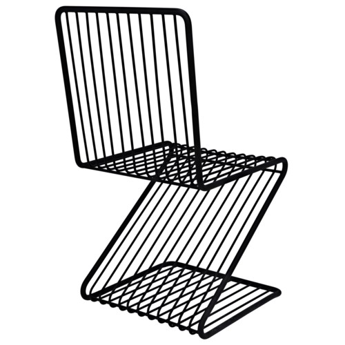 Twiggy Chair, Black Metal