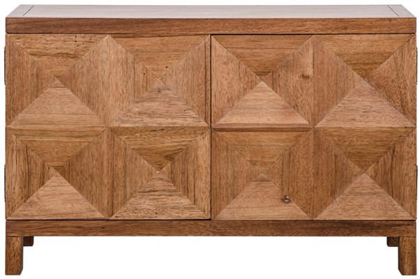QS Quadrant 2 Door Sideboard, Dark Walnut