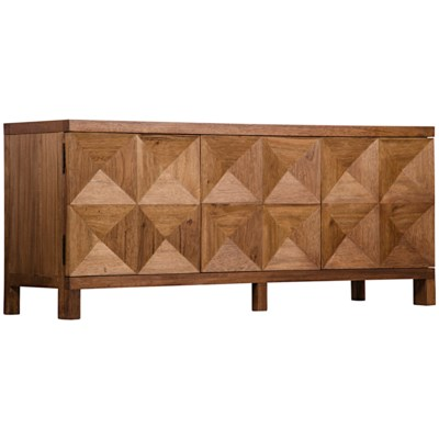 Quadrant 3 Door Sideboard, Dark Walnut