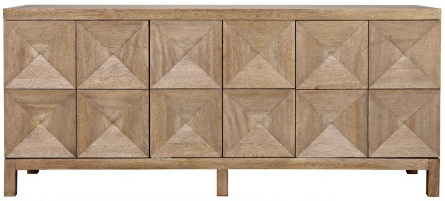 Qs 3 Door Quadrant Sideboard Washed Walnut Dressers