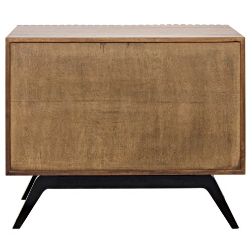 Illusion Single Sideboard, Walnut and Metal