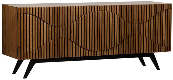 Illusion Sideboard, Metal and Walnut