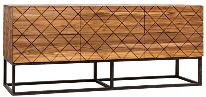 Parker Sideboard Teak w/ Metal Base