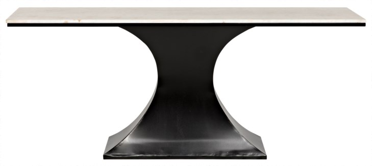 Z Curtise Console, Metal and Quartz