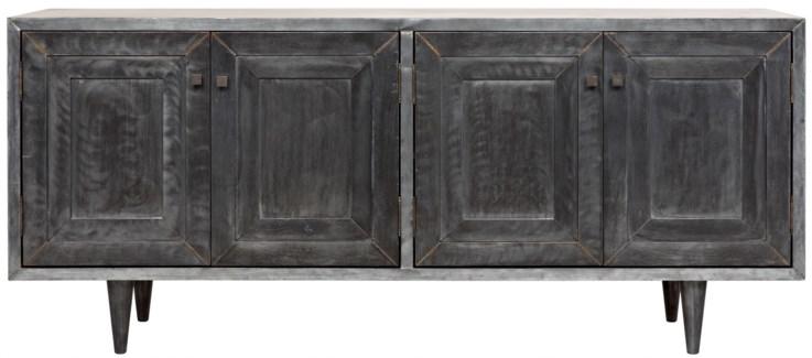 Yves Sideboard, Plain Zinc and Wood