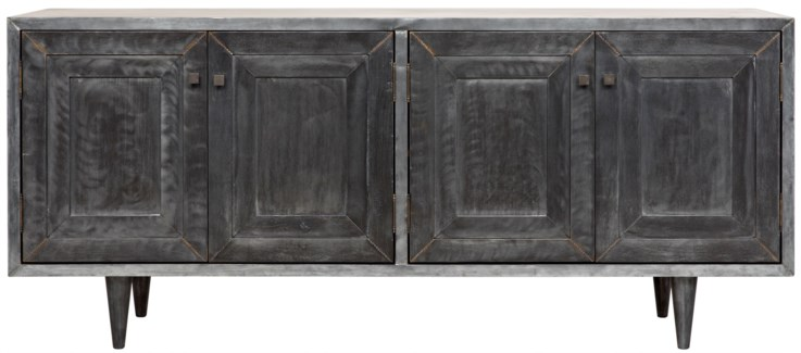Yves Sideboard, Plain Zinc and Wood