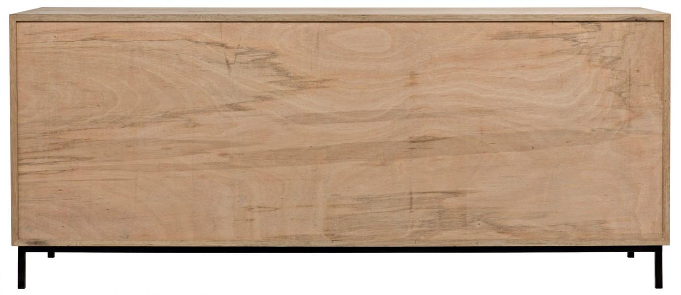 Herringbone Sideboard, Washed Walnut and Metal