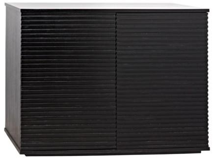 QS Smith 2 Door Sideboard, Hand Rubbed Black