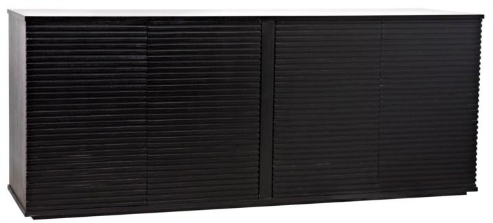 Smith 4 Door Sideboard, Hand Rubbed Black