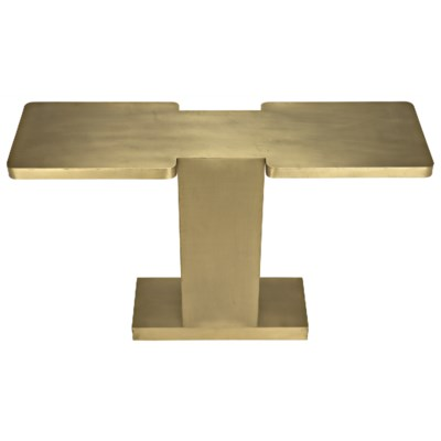 I Console, Antique Brass