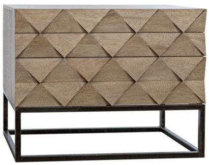 Draco Sideboard with Metal Stand, Washed Walnut