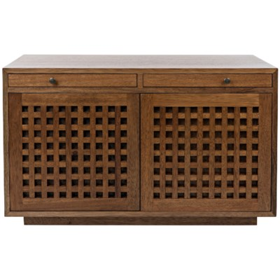 Genti 2 Door Sideboard,Dark Walnut