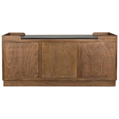 Spago Sideboard with Stone Top, Dark Walnut