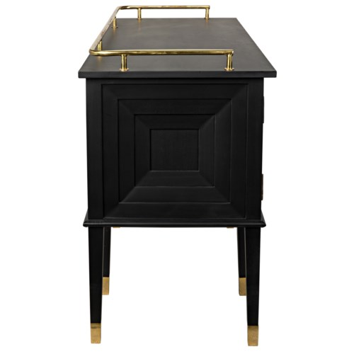Conveni Sideboard w/Brass Detail, Charcoal