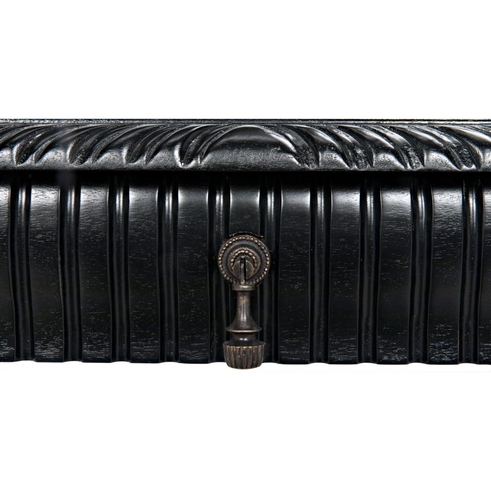 Portuguese Desk, Hand Rubbed Black