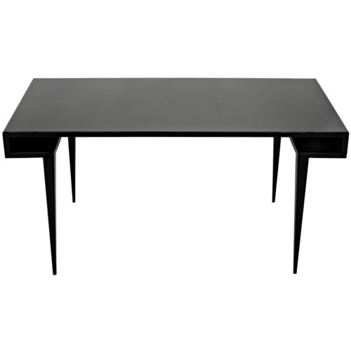Stiletto Desk, Black Metal