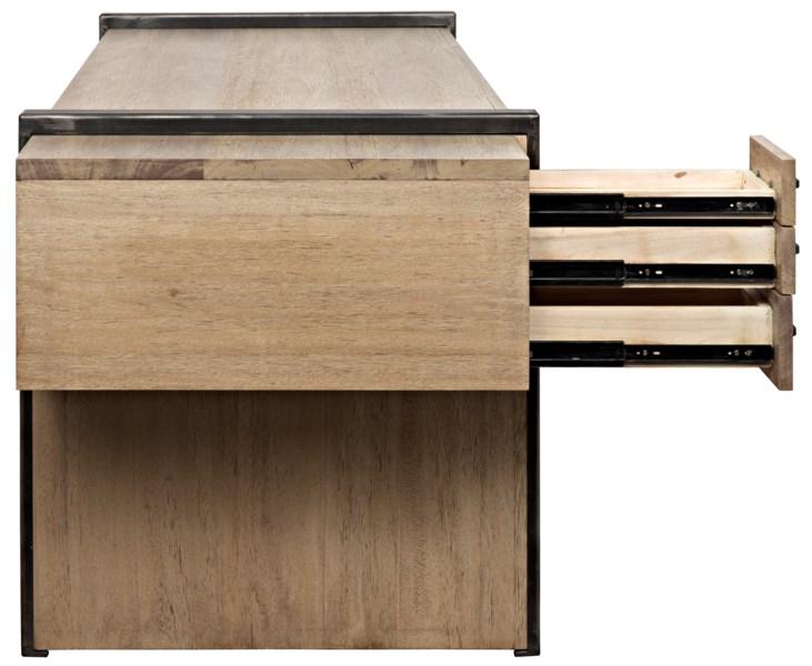 Bartholomieu Desk, Washed Walnut, Walnut
