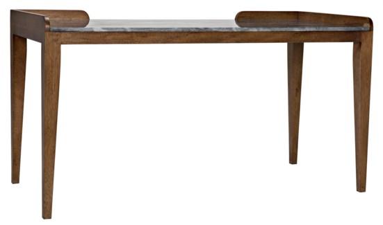 Wod Ward Desk, Dark Walnut with Stone Top