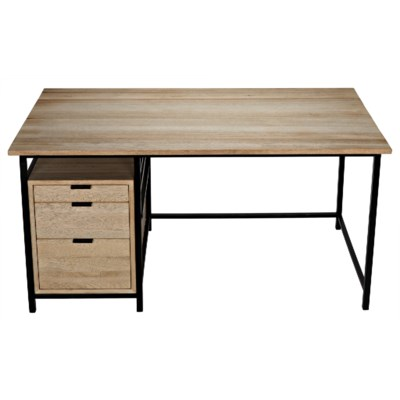 Nabucco Desk, Bleached Walnut and Metal