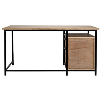 Nabucco Desk, Bleached Walnut and Metal