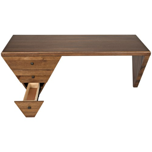 Tetramo Desk, Dark Walnut