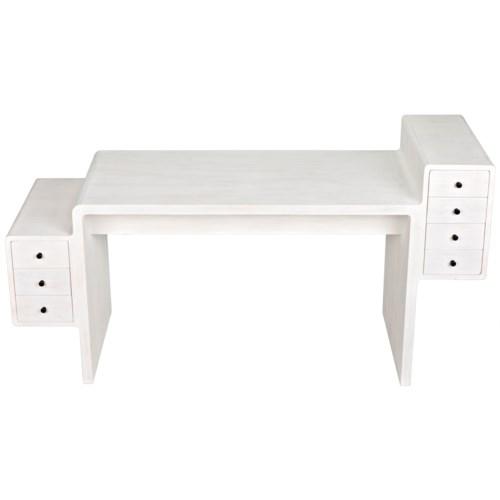 Lance Desk, White Wash Finish
