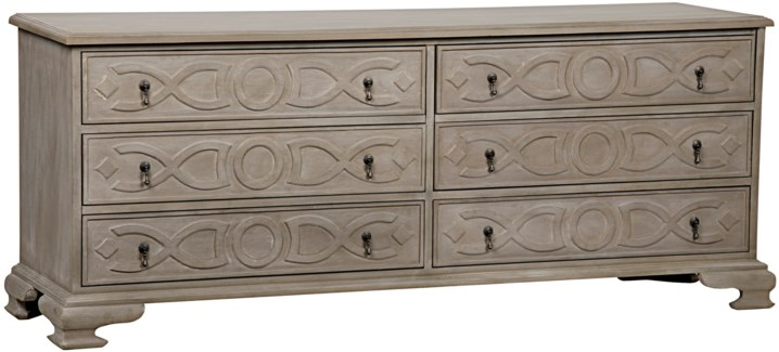 Sofie 6 Drawer Dresser, Weathered