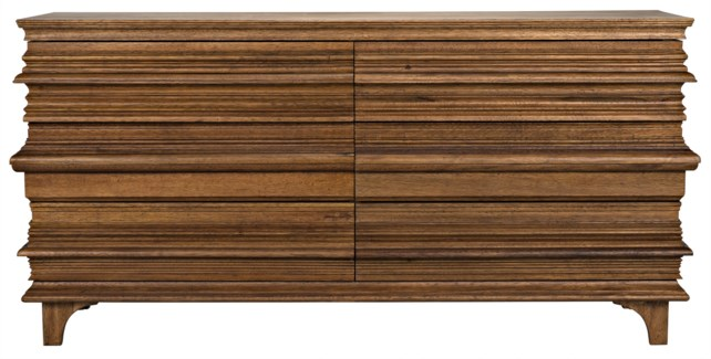 Bernard 6 Drawer, Dark Walnut