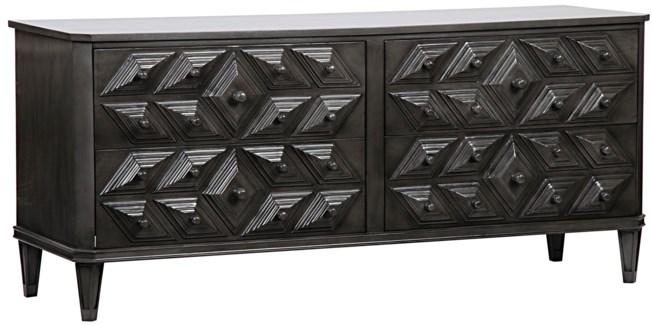 Giza 4 Drawer Dresser, Pale