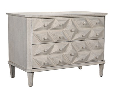 QS Giza Dresser, White Weathered