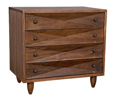 QS Diamond Chest, Dark Walnut