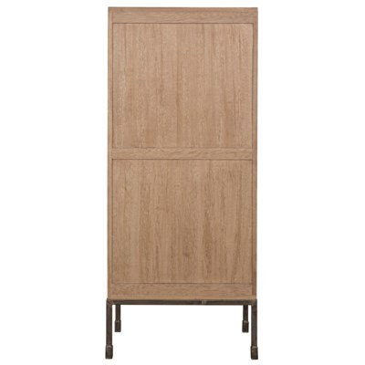 Bovery Hutch, Washed Walnut and Charcoal