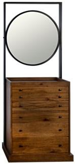 Luna Piena Cabinet with Mirror, Dark Walnut