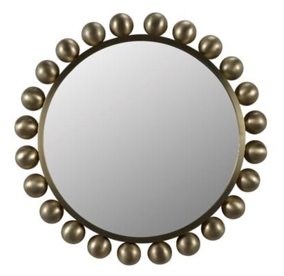 Cooper Mirror, Antique Brass