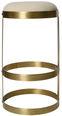 Dior Bar Stool, Antique Brass