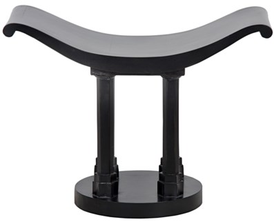 Z Kahl Stool, Hand Rubbed Black