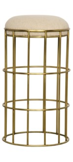 Ryley Counter Stool, Gold Finish