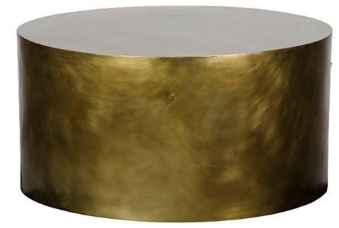 Lorene Coffee Table, Antique Brass