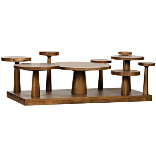 Anvil Coffee Table,, Dark Walnut
