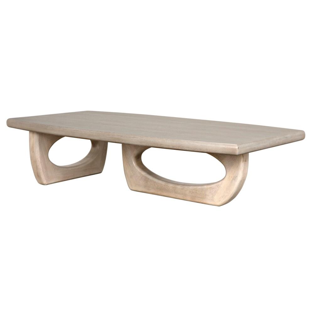 Douglas Coffee Table, Bleached Walnut