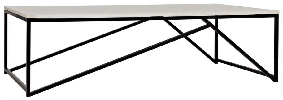 Molimo Coffee Table, Metal and Stone