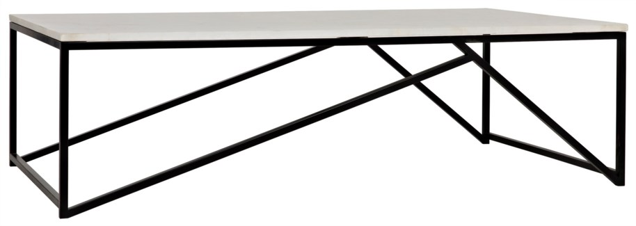 Molimo Coffee Table, Metal and Stone