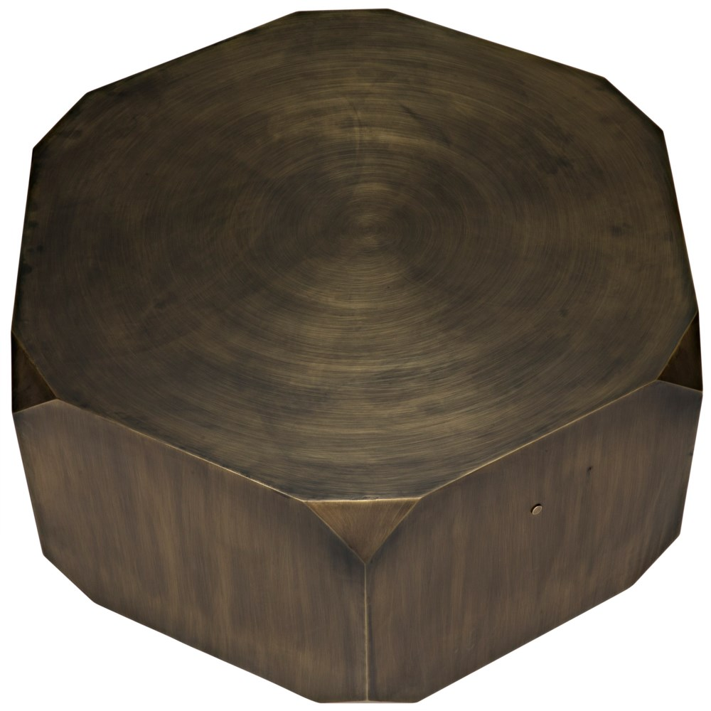 Tytus Coffee Table, Steel with Aged Brass Finish