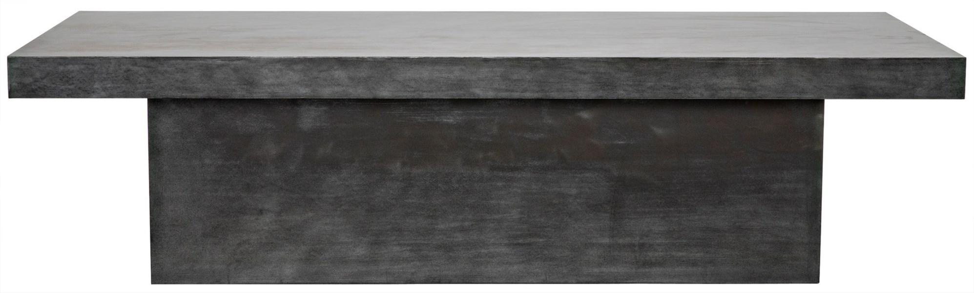 Prisms Coffee Table, Plain Zinc