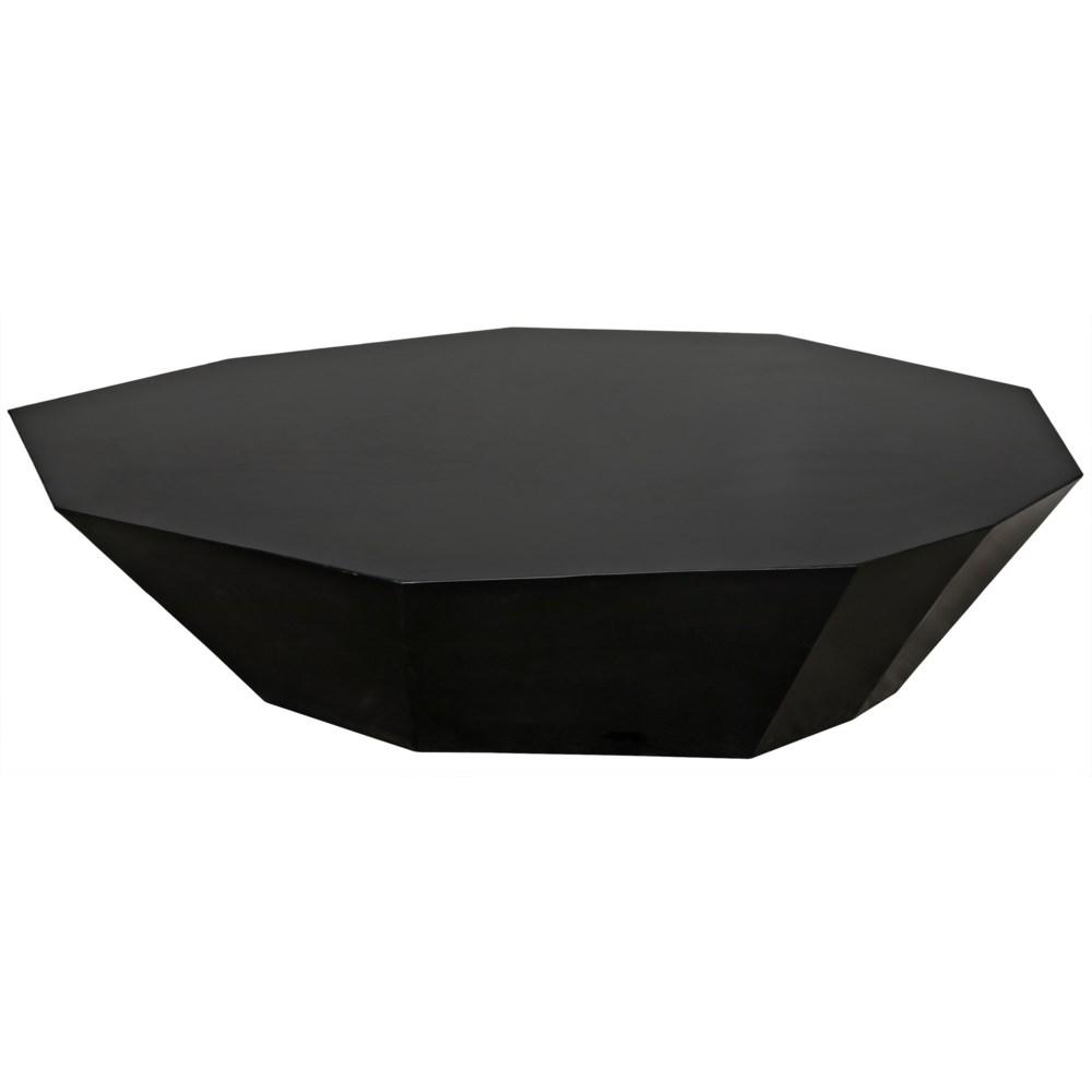 Trillion Coffee Table, Black Metal