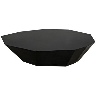 Trillion Coffee Table, Black Metal