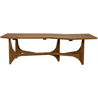 Fenton Coffee Table, Gold Teak